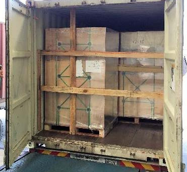 How can accident be avoided using container securing?