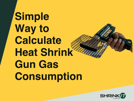 What is the simplest way of calculating the Heat Shrink Gun Gas Consumption?