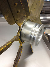 Modification of a motor fan pulley