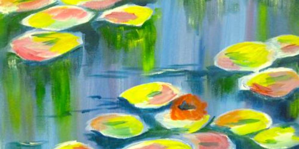 Vivid Monet Pond *Special $25 - 1/2 off bottles of Wine!