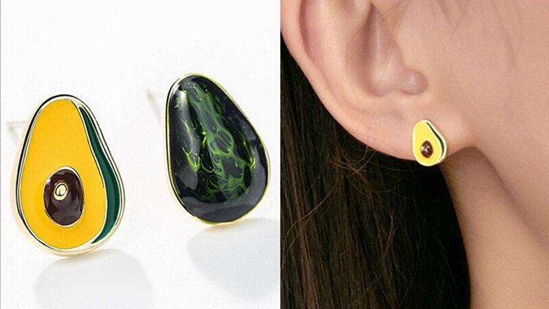 Avocado Stud Earings