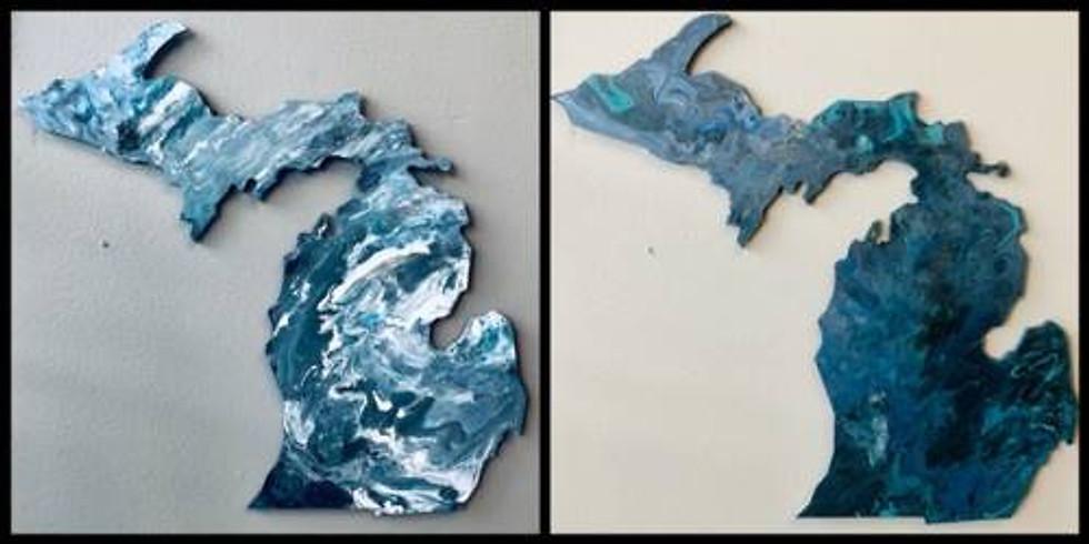 """Pour Paint Workshop 18"""" MI Cut Out"""