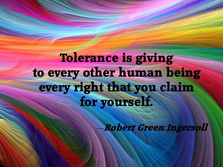tolerance suffrage equal rights human rights