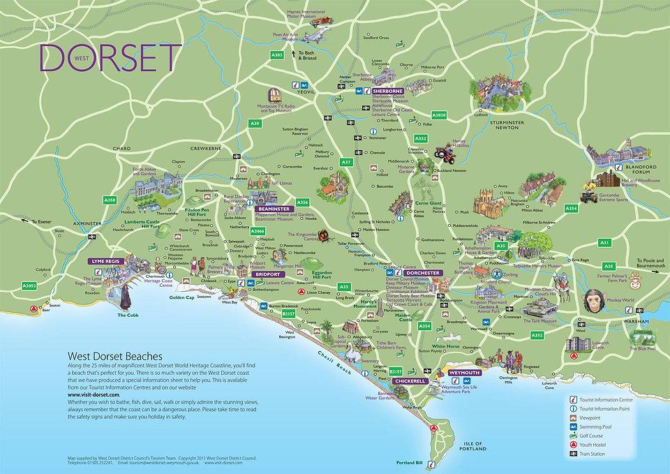 Dorset attractions map