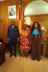 Audience à l'Ambassade du Ghana à Paris