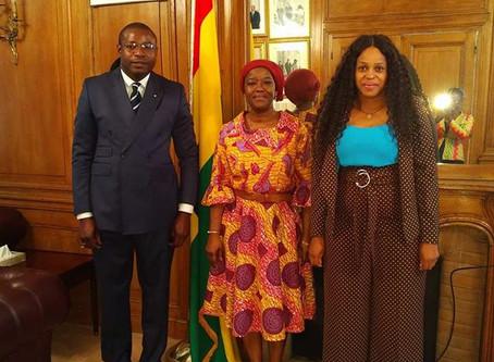 Mr. MALOYI Eudes Damien reçu en audience à l'ambassade du Ghana à Paris