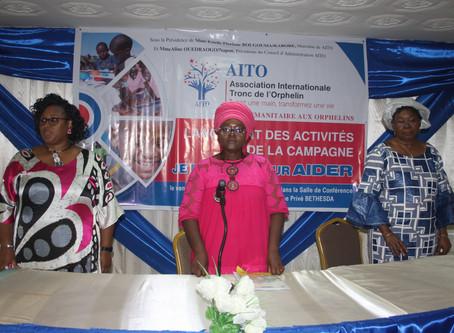 Mme. Aline Ouedraogo fait le lancement de la campagne je me prive pour aider au Burkina-Faso