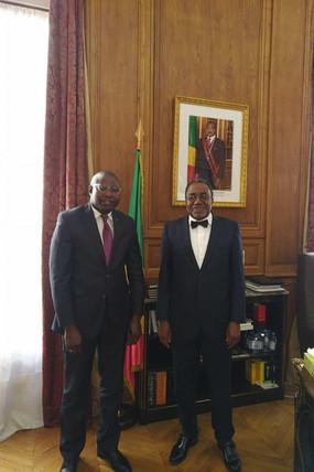 Mr MALOYI Eudes Damien en audience à L'Ambassade du Congo