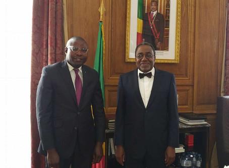Mr. MALOYI Eudes Damien reçu en audience à l'ambassade du Congo à Paris-France