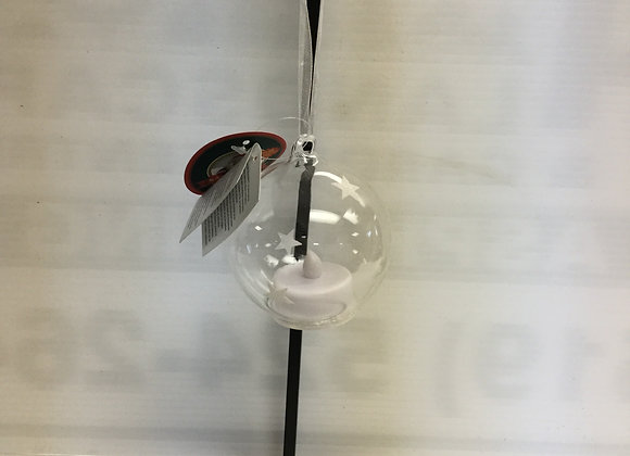 Clear Starts With Candle Tree Ornament