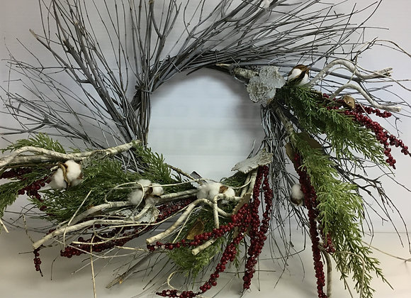 Large Wreath with Red Berries