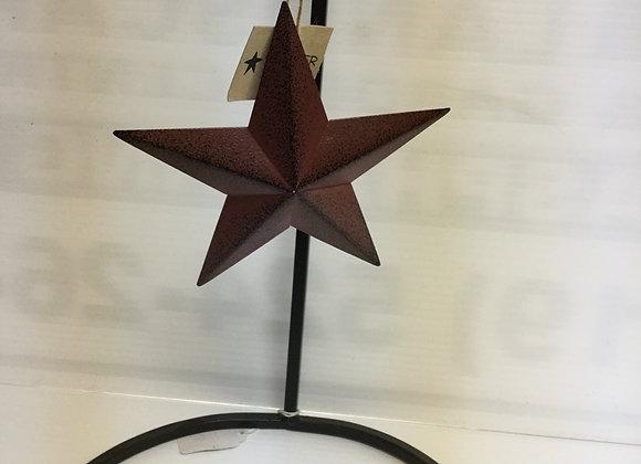 Rustic Red Star Tree Ornament