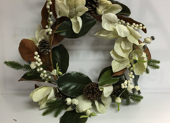 Large Wreath with Magnolia Tips