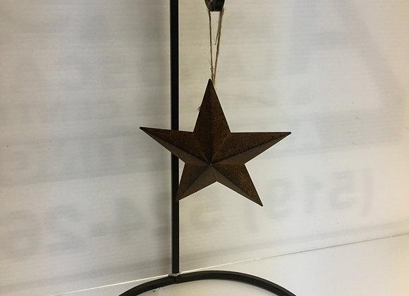 Rustic Brown Star Tree Ornament