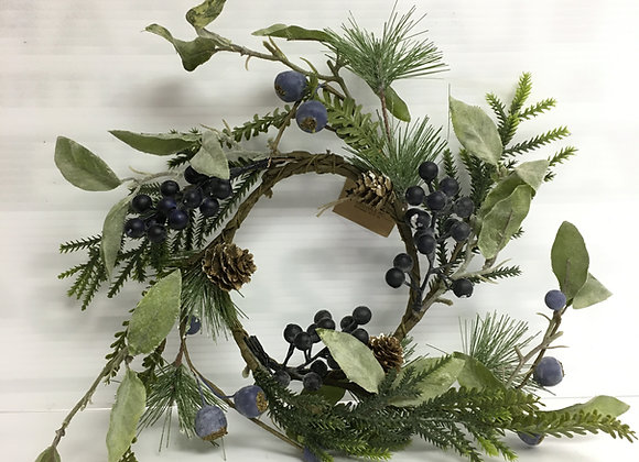 Small Wreath With Blueberries