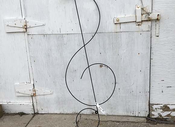 Treble Clef Garden Art