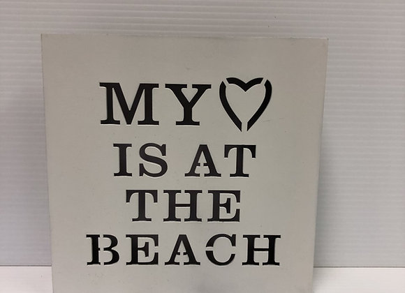 My Heart is at the Beach Sign