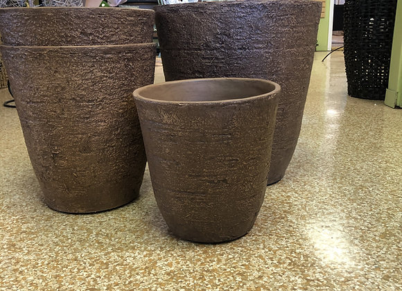 Round Brown Planters