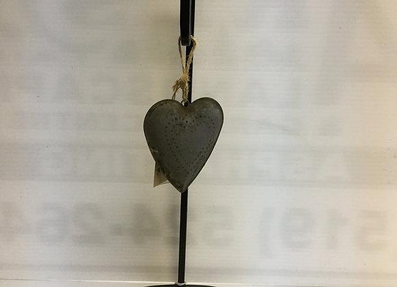 Grey Heart Tree Ornament
