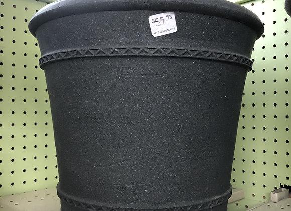 Round Black Planters