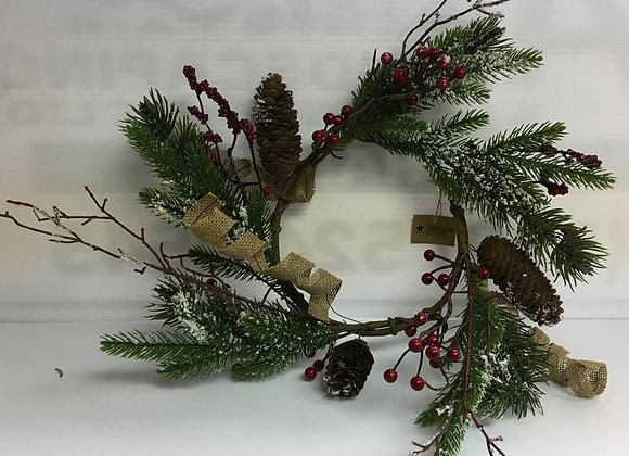 Medium Wreath with Red Berries & Acorns