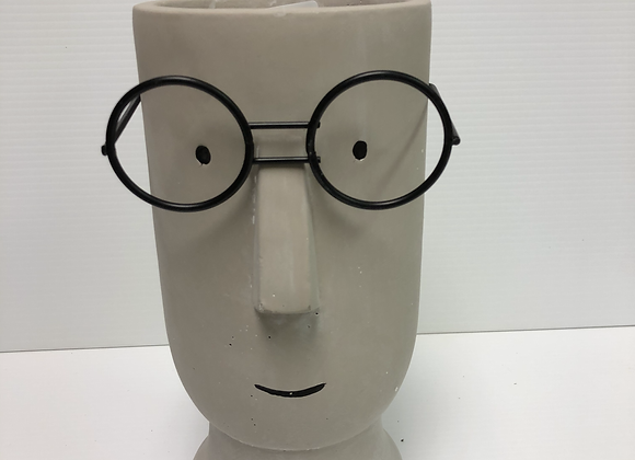 Planter with Glasses