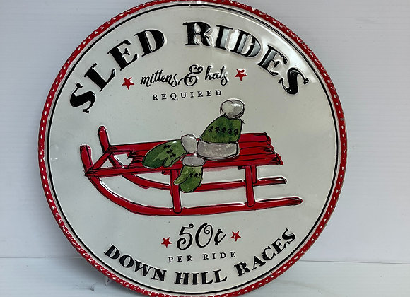 Sled Rides Sign