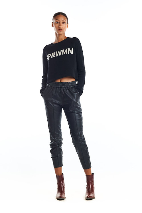 SPRWMN Leather Joggers