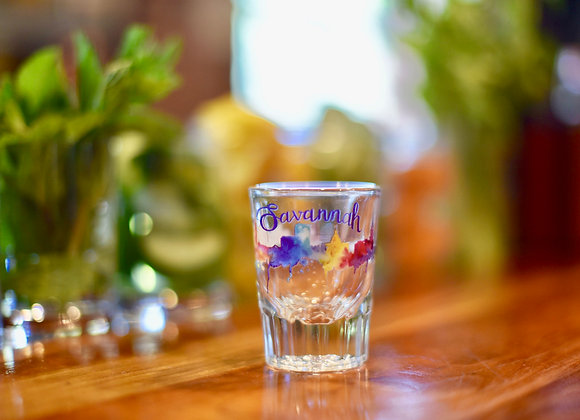Watercolor Lux Shot Glass