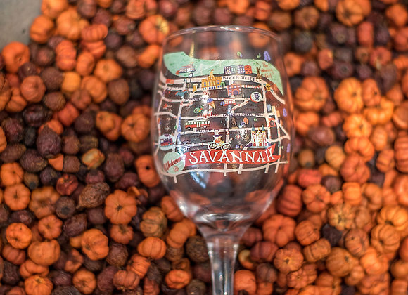 Map Wine Glass
