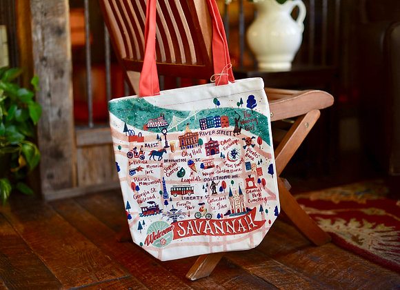 Map Canvas Tote