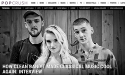 Clean Bandit x Pop Crush Aug 2017
