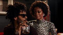 Lenny Kravitz and model