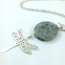 Ocean jasper and dragonfly