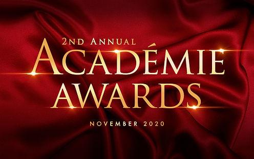 2nd Annual ACADEMIE AWARDS 2020 Artwork.
