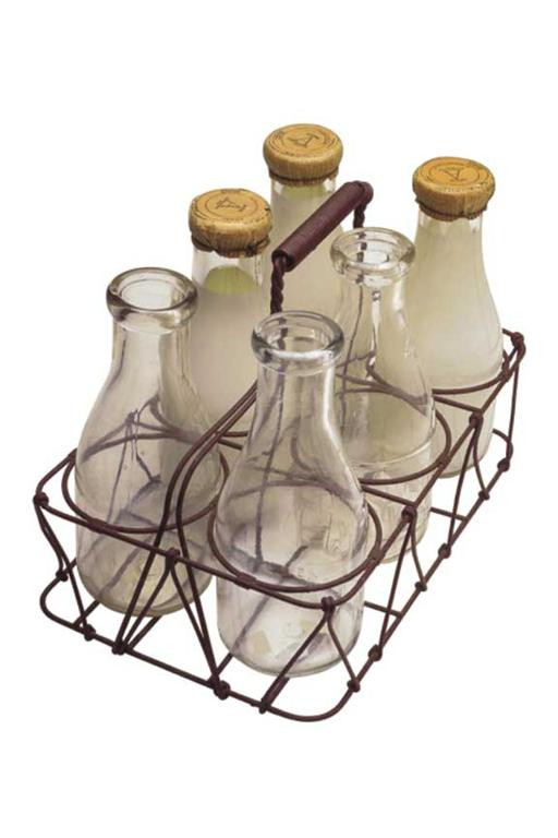 Vintage Milk Bottles from Getty Images