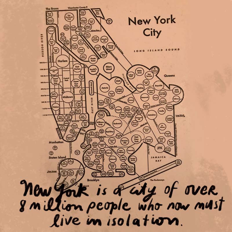 Map of NYC by Archie's Press