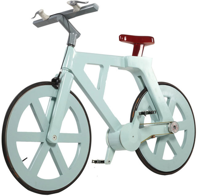 This bike is made of cardboard
