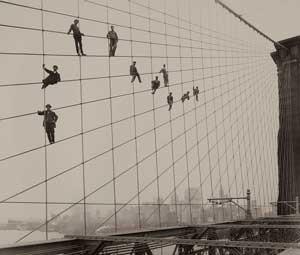 Eugene de Salignac, Painters on the Brooklyn Bridge (1914)