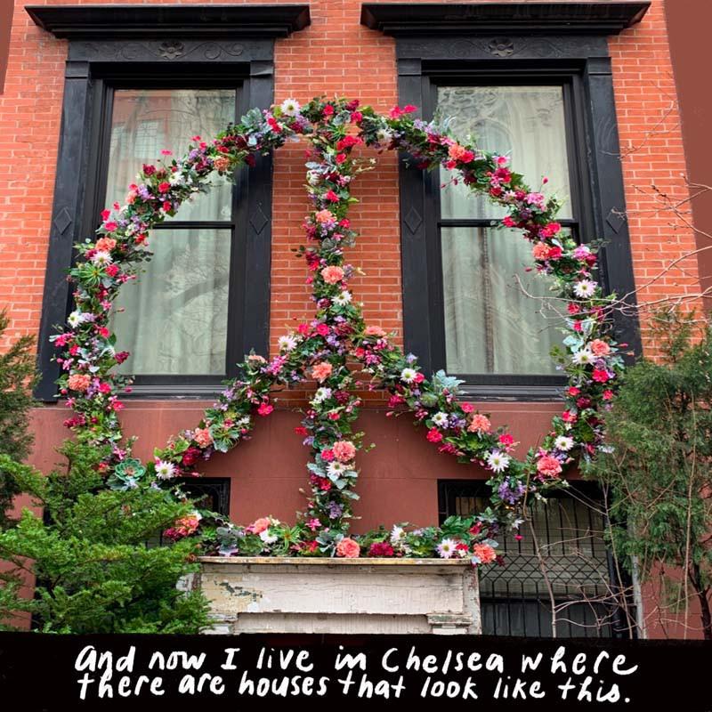 Brownstone in the Chelsea neighborhood of Manhattan