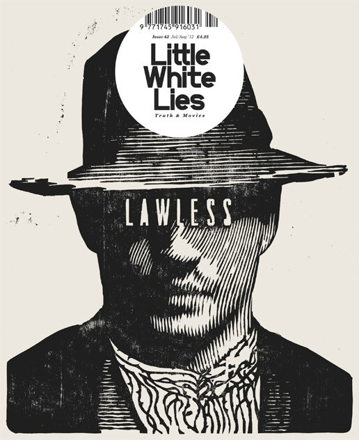 The woodcut cover for issue 42 of Little White Lies, by Paul Willoughby