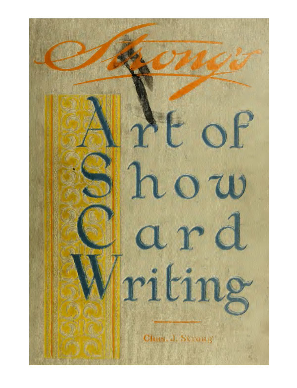 Art of show card writing
