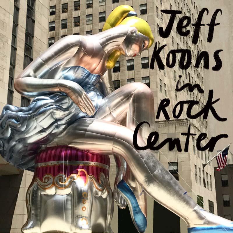 Jeff Koons inflatable sculpture in Rockefeller Center