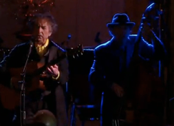 Bob dylan with the band