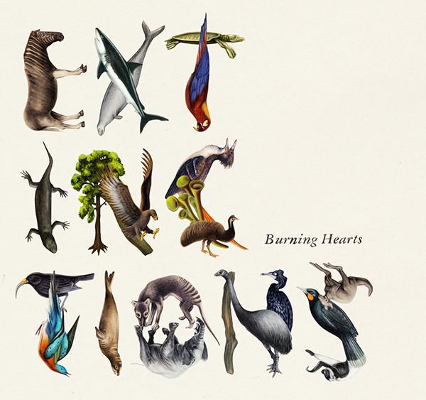 "Cover design for the album ""Extinctions"