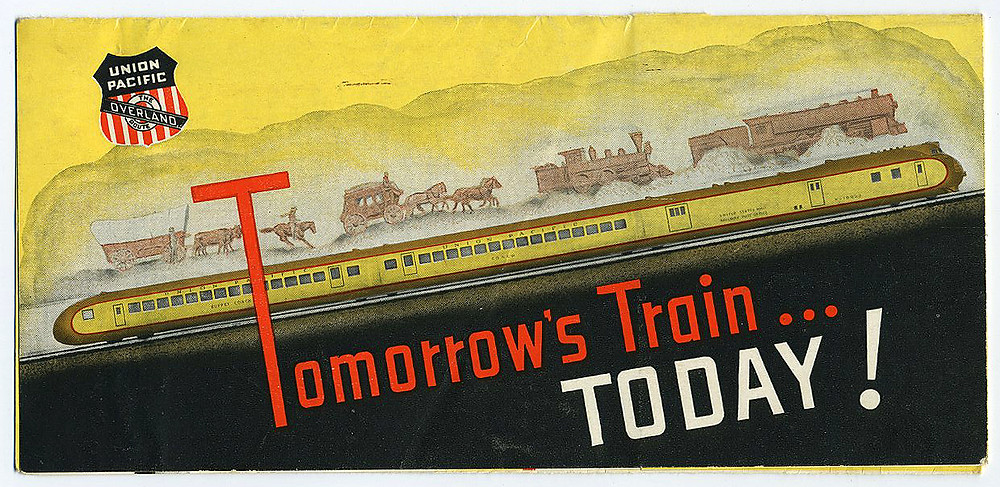 Union Pacific Railroad. The UP had there own streamliner. Louis Paeth designer/illustrator.