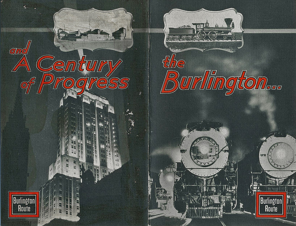 "The Chicago Burlington & Quincy Railroad, the ""Burlington Route""."