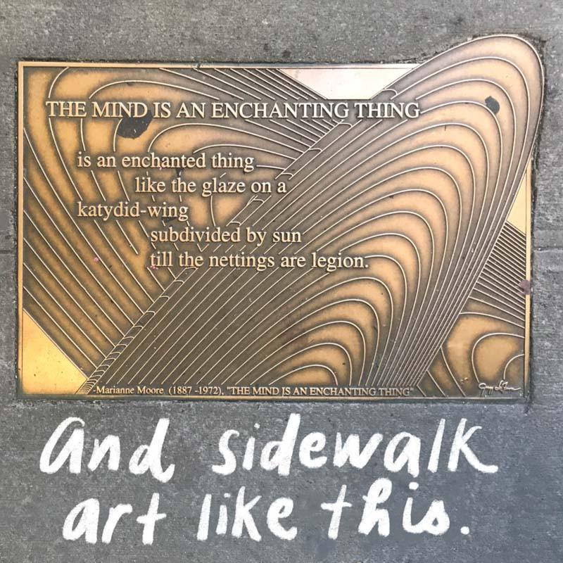 Sidewalk near the New York Public Library