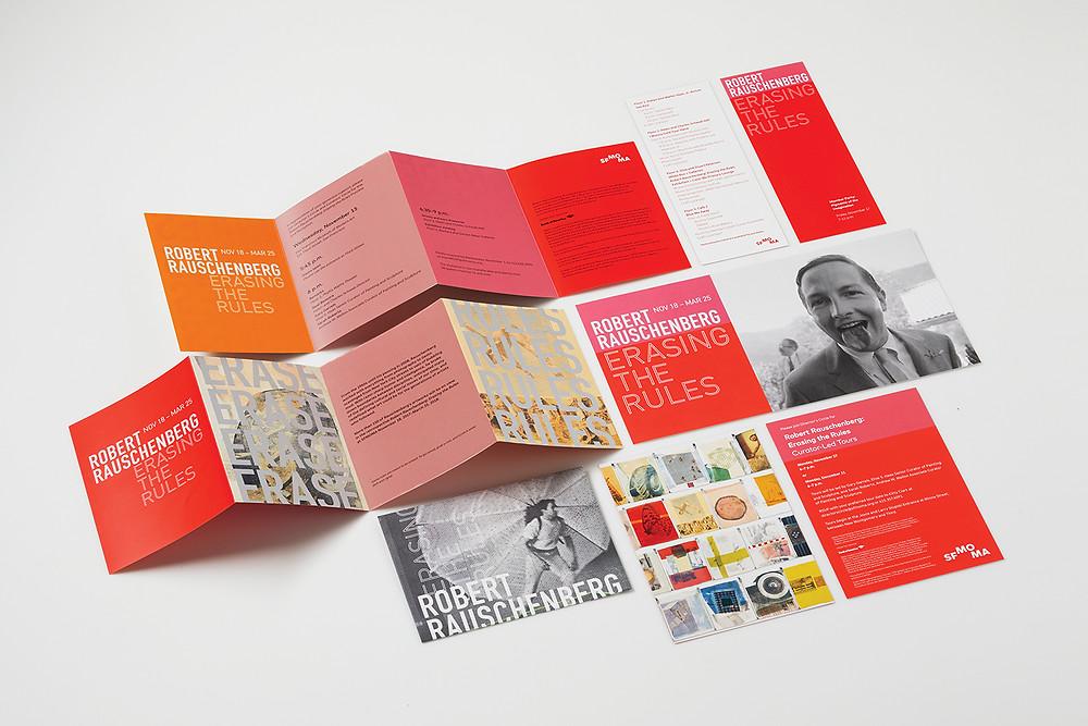 Robert Rauschenberg Exhibition Opening invitation