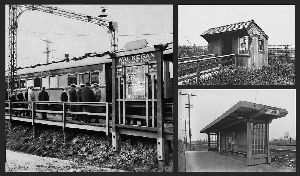 Left: Edison Court/Waukegan. Il.     Top right: 5 Mile Road/Racine, WI.    Bottom Right: Indian Hill/Winnetka, IL.